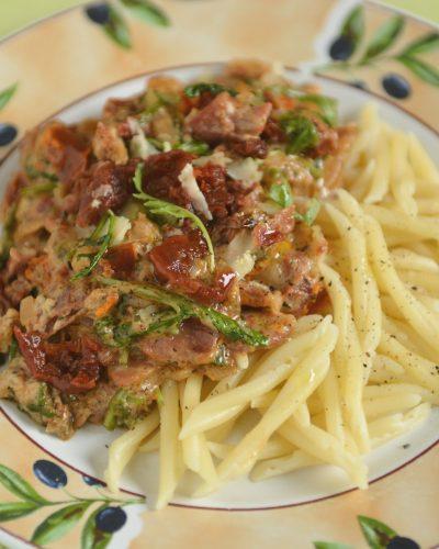 Makaron z suszonymi pomidorami i mascarpone